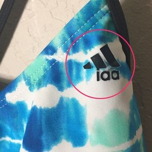 adidas Swim - Adidas swim tankini blue green wave motif sz. 16